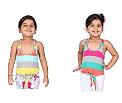 Pepperika Casual Sleeveless Striped Girl's Multicolor Top