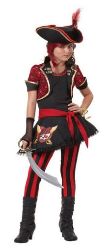 Tween Sassy Pirate Captain Costume