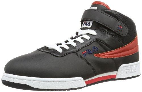 Fila - Sneaker F-13 MID, Uomo, Bianco (Schwarz (Black)), 40