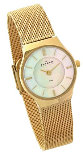 Skagen Ladies Stainless Steel Gold Tone Watch - 233XSGG