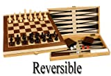 41aHLzJWQgL. SL160  Folding 17 Wooden 3 in 1 Backgammon, Chess, and Checkers Game Set