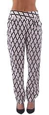 Dinamit Womens Black White Harem Pants with Back Tie