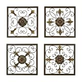 Metal Wall Plaque - Set of 4 - 16W x 16H in. ea.