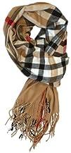 LibbySue-Cashmere Blend Designer Inspired Plaid Wrap Shawl