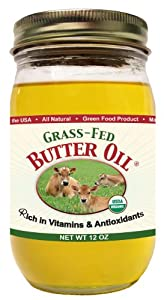 High Vitamin Butter Oil (Grass Fed & Organic) 13 Oz