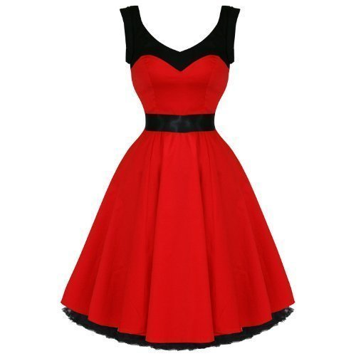 Hearts & Roses London Red Vintage 50s Party Prom Swing Full