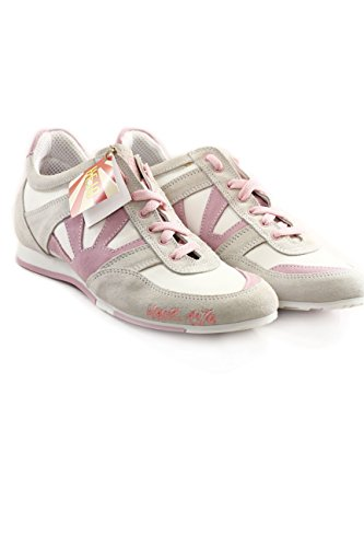Kejo Nagoya Leather and Mesh Women Sneakers Color Pink EU40