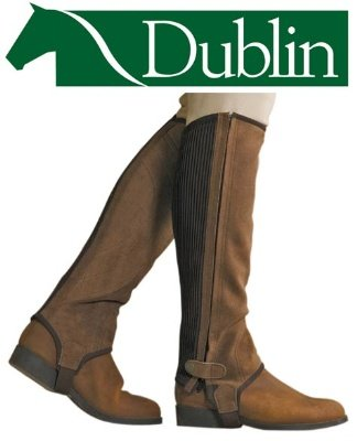 Dublin Comfort Suede Original Half Chaps Brown Small