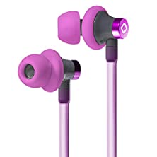 buy Aircom A3 Stereo Headphone For Apple Ipod Nano Airtube Stereo Headset Active With Handsfree Microphone True Live Sound Listening (Pink)