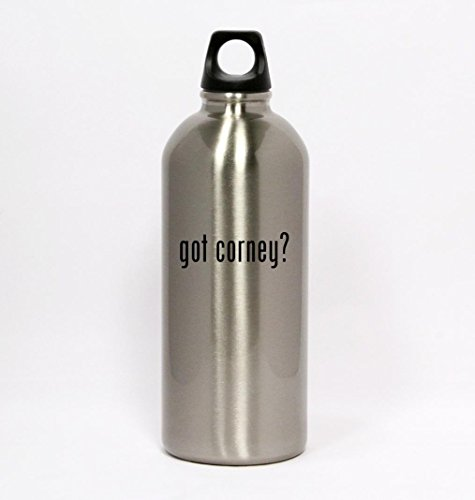 got corney? - Silver Water Bottle Small Mouth 20oz (Corney Ware compare prices)