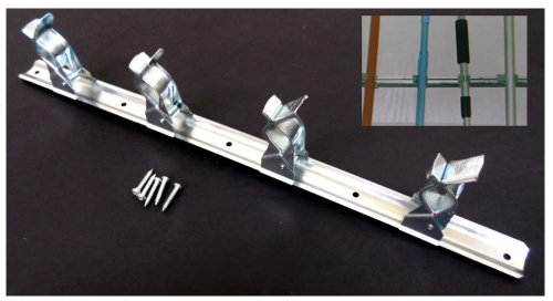 Heavy-Duty Tool/Broom Metal Rack With 4-Clips front-445820