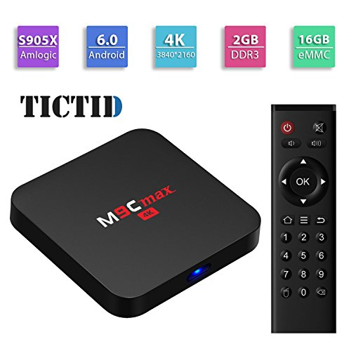 Review TICTID M9C max Android 6.0 TV Box Amlogic S905X Quad-core 64 bits [2GB DDR3/16GB eMMC] with K...
