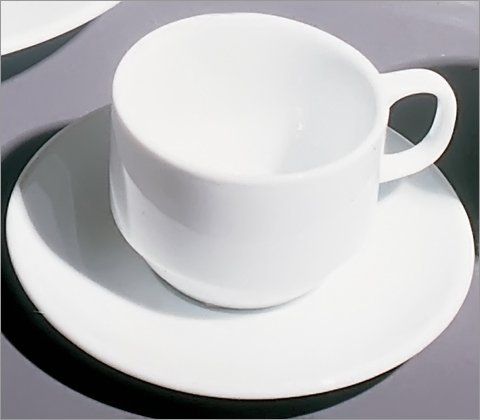 Ten Strawberry Street BISTRO-9 Bistro Demi Cup and Saucer (Set of 6)