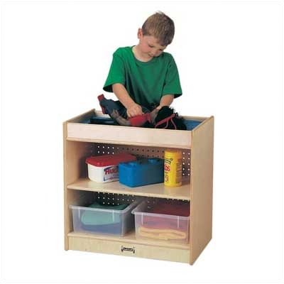 Jonti-Craft Play School Home Multipurpose Kids Storage Organizers Furniture Décor Accessories Doll Changing Table