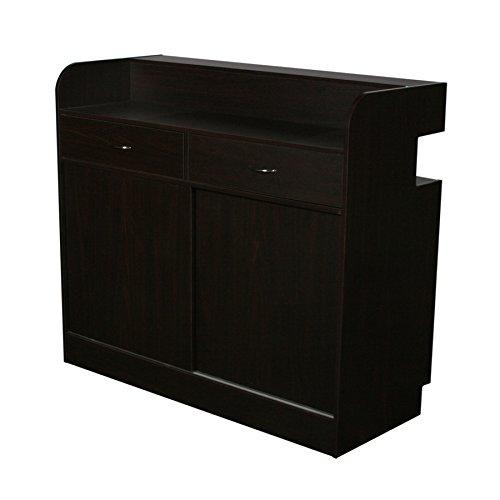 Falini salon showcase reception desk dark cherry by deco salon furniture