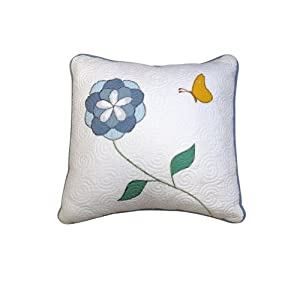 Lenox Butterfly Meadow Square Pillow, 18-Inch