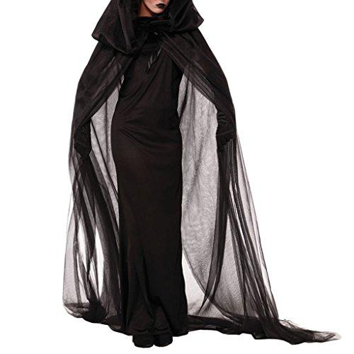 Halloween Party Club Cosplay Women Ghost Black Dress Witch Fancy Costume M (Womens Fancy Dress Halloween Costumes)