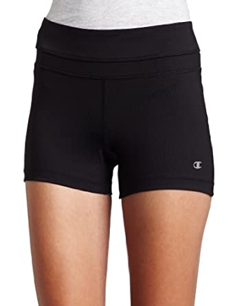 Champion Wms Absolute Workout Short (XS,Black)