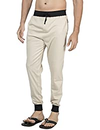 Clifton Men's Ribbed Slim Fit Track Pant - Stone
