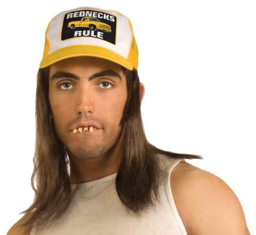 Forum Novelties Instant Redneck Costume Kit, Hair Hat Buck Teeth