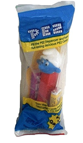 Smurf Pez Dispenser Smurf with red stem Factory Sealed (Pez Dispensers Smurfs compare prices)