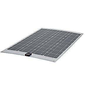 Biard 40W Solarpanel Photovoltaik Solarmodul - Monokristalline Solarzellen - Ideal zum Aufladen von 12V Batterien in Wohnmobilen - Optimal für Unebene Oberflächen - Inkl.1 m Kabel und SEA Anschlüssen by Biard