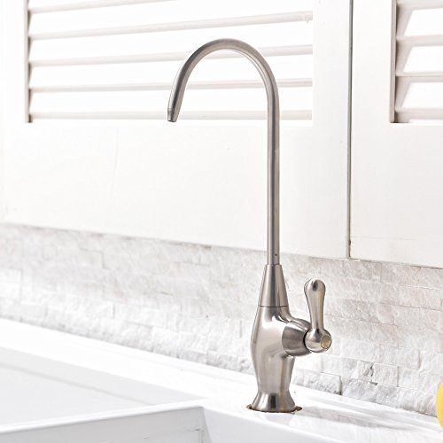 Ufaucet Best Stainless Steel Brushed Nickel Kitchen Bar Sink Drinking Water Purifier Faucet,Water Filtration Faucet (Stainless Steel Water Faucet compare prices)