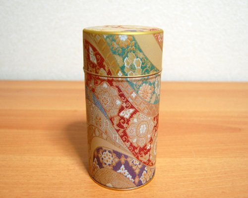 Ryu Mei Mizunishiki Japanese Metal Tea Tin [ Red ]