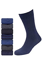 7 Pairs of Freshfeet™ Cotton Rich Assorted Socks with Silver Technology