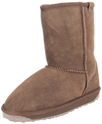 Emu Womens 'Stinger Lo' Shearling Lined Boot Shoes Chocolate, UK 8