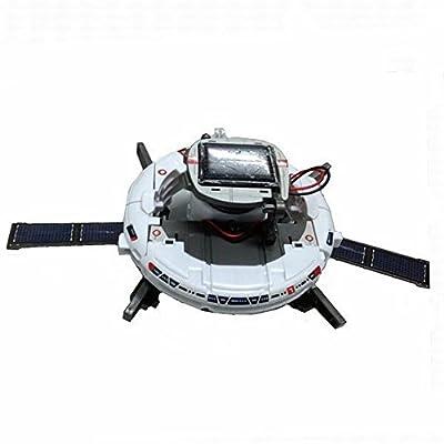 High Quality 1set 7-in-1 Solar Robot Kit for Kids Children Model Building Kits White DIY Solar Rechargeable Space Fleet Kit