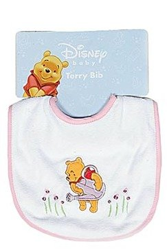 Disney Baby Winnie the Pooh Bib - Girl Varied Prints - One Bib - 1
