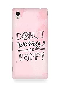 AMEZ donut dont worry be happy Back Cover For Sony Xperia M4