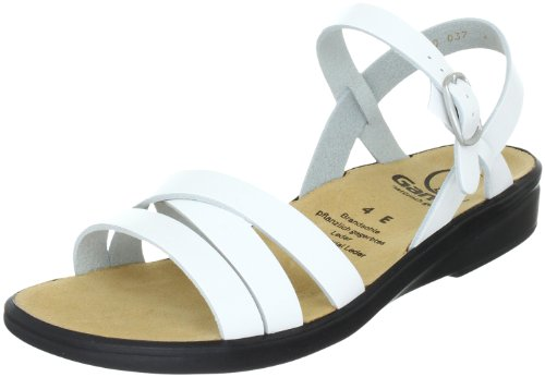 Ganter Sonnica, Weite E 3-202811-02000, Damen Sandalen/Fashion-Sandalen, Weiss (weiss 0200), EU 41 (UK 7.5)