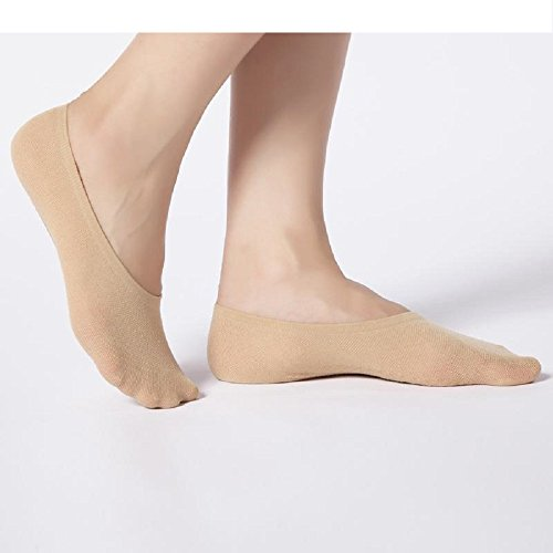 Women No Show Socks For Flats, Beige, size 9/1