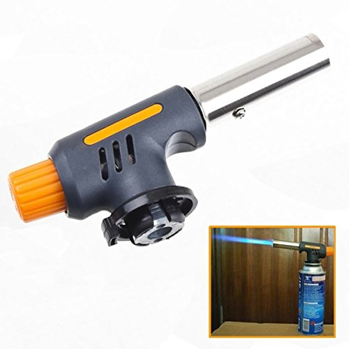Ricco shop Portable Gas Jet Torch Flame Maker Gun Lighter Butane Weld Burner for Welding Camping Picnic Heating BBQ