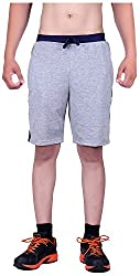 DFH Men's Cotton Shorts (MNG2, Grey, 36)