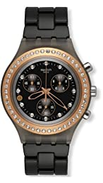 SWATCH FULL BLOODED STONEHEART BLA SVCM4008AG UNISEX PLASTIC CASE WATCH