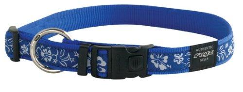 Rogz Fancy Dress Armed Response Dog Collar Hibiscus Blue