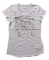 Hollister Womens Girls Designer Cotton Short Sleeve T Shirt UNFINISHED TRIMS Grey Medium