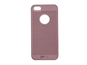 Loopee Heat Dissipation Hollow Ultra Thin Hard Back Case Cover for Apple iPhone5/5S - Rose Gold