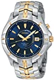 41aHzCEj8eL. SL160  Seiko Mens SKA402 Kinetic Two Tone Watch