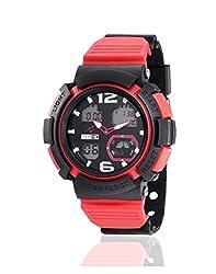 Yepme Mens Analog Digital Watch - Red/Black