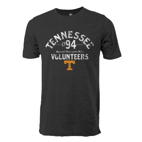 NCAA Tennessee Volunteers Tri Blend Short Sleeve Tee, Medium, Vintage Black