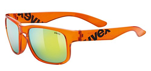 Uvex LGL 22 - Gafas de ciclismo unisex, color naranja / negro