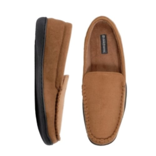 Cheap Dearfoams Mens Chestnut Brown Loafer Style Slippers Rugged House Shoes Loafers (B009WW36R6)