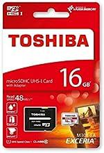 Comprar Toshiba THN-M301R0160EA - Tarjeta micro SD de 16 GB, clase 10, UHS-I