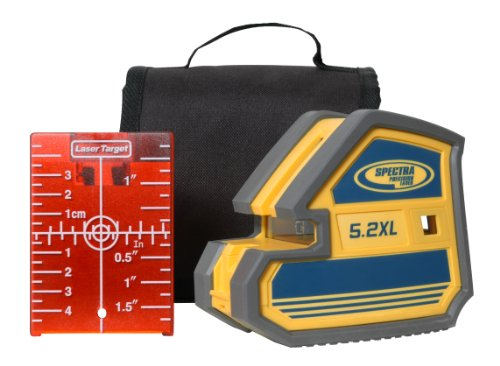 Spectra 5.2XL Multi-Purpose 5 Point and CrossLine Laser with Soft Carrying Cas