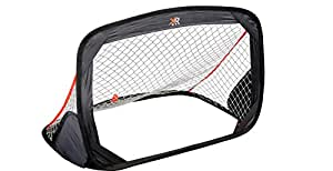 XQ Max Kid's Pop-Up Soccer Goal - Black/White/Red
