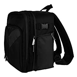 MyVangoddy Fujifilm FinePix S8600 Black Sparta Collection SLR Camera Backpack